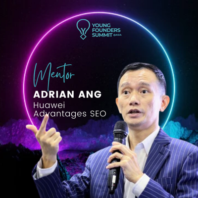 Young Founders Summit Mentor Adrian Ang